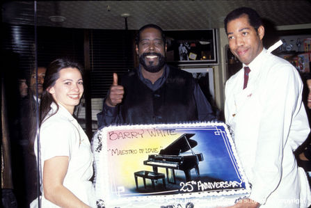 Michael was in attendance at Barry White's memorial service back in 2003