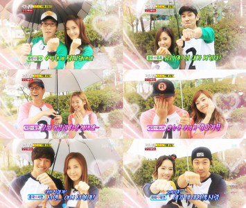 In Running Man Taeyeon couple with who??