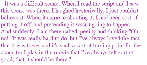 Kate Winslet said this about which movie?