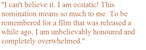 Kate Winslet said this after was nomminated for Oscar for which movie?