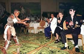 This foto was taken of Michael and his family while on tour in South Africa back in 1997