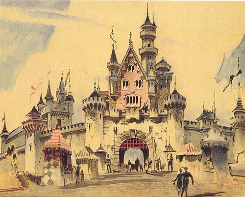 This is concept art of which castle?
