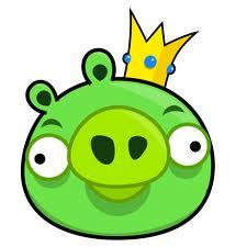 What color was king pig  crown jewerly?