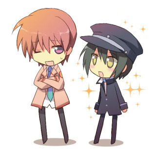 The name of these two characters from this Angel beats paring are Otanashi and...