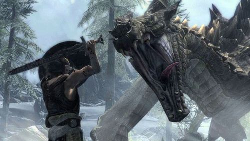 In The Elder Scrolls V: Skyrim, the dragon word 'Yol' means what in the English language?