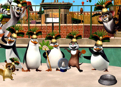 Easy Question: How many of King Julien's crowns are shown in this image?