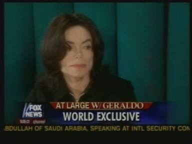 Michael was interviewed 의해 veteran journalist, Geraldo Rivera, back in 2005