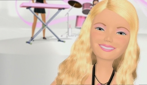 Which song is Barbie singing in here?