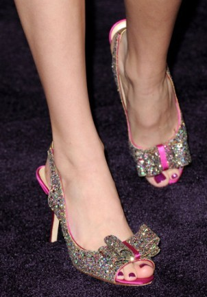 In which movie premiere did she wear these shoes?