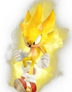 As Super Sonic, Sonic can run/fly at the...?
