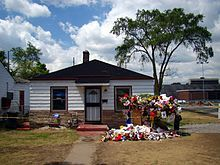 Located at 2300 Jackson सड़क, स्ट्रीट in Gary, Indiana, this was Michael's childhood place of residence