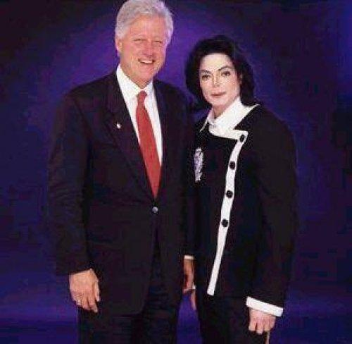 Who is this former United States president in the photograph with Michael