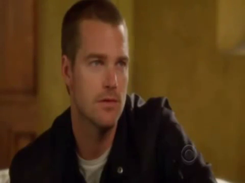 According to Callen, who breaks the glass by putting her/his feet on the table?