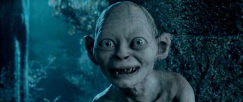 Gollum: So bright... so beautiful... ah, _______. (The Two Towers)
