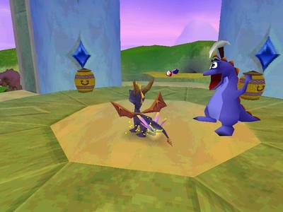 When you defeat an enemy in Spyro 2: Ripto's Rage!, what comes free?