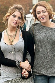 In which movie did Ashley Greene and Miley Cyrus play together?