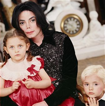 This photo of Michael and his two children was taken at Neverland back in 2002