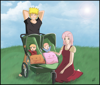 What are the names of our twins that Sakura and I chose ?