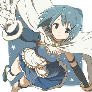 Before Sayaka becomes a Magical Girl, what weapon does she use when she shadows Mami?