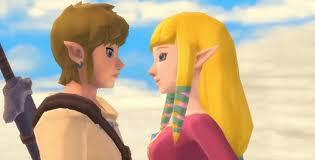 What was Link thinking when Zelda came close to him in Skyward Sword?