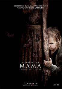 """Who does Jessica Chastain play in """"Mama"""" (2013)?"""