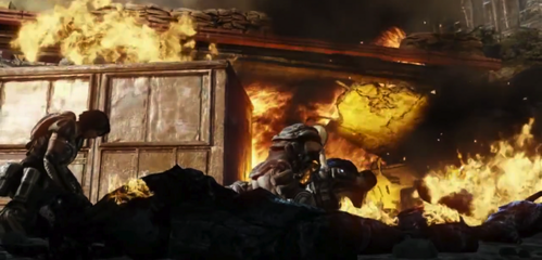 What is the song that tu hear in Gears of War 3 called?