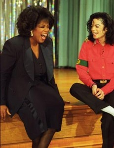 why dose Michael grab his crotch according to Oprah's interview?