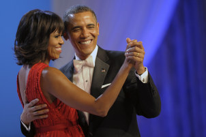Michael was in attendance at President Barrack Obama's first inaugural ball back in 2009
