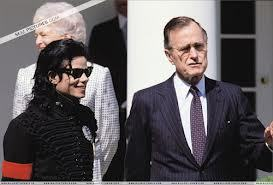 Michael made a secondo visit to the White House back in 1989