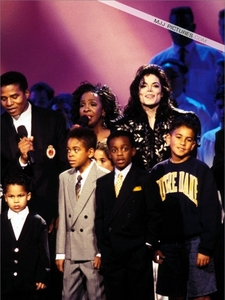 Who is this lady in the photograph with the Jackson family