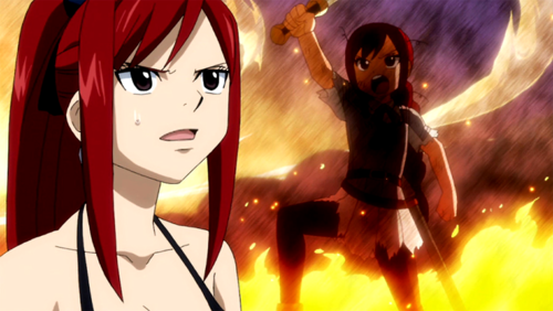 What's Erza remembering?