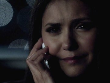 Is Elena on the phone with Stefan here?