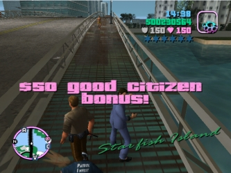 In various GTA games, what do you have to do for a 'Good Citizen Bonus'?