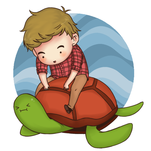 What are Liam's turtles' names?