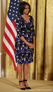 "Michelle Obama is nearly 6'0"" tall"