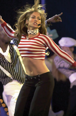 Jennifer Lopez was a backup dancer for...