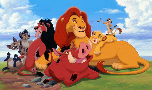 Who speaks first in the Lion King?