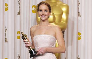 Which movie Jennifer Lawrence win the Acdemy Award for Best Actress ?