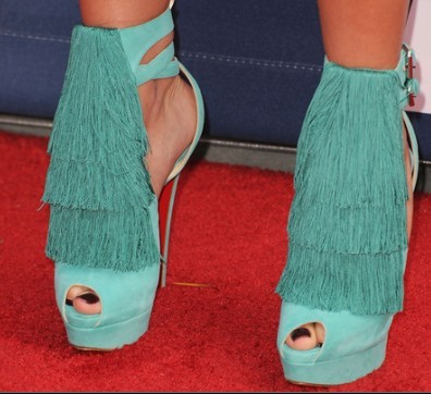 Where did she wear these shoes?