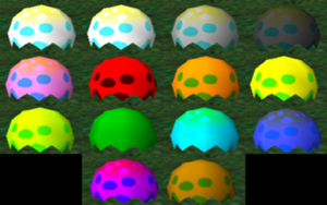 How much does a lime green chao egg cost?