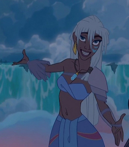 Kida is the only princess who has a visible tattoo