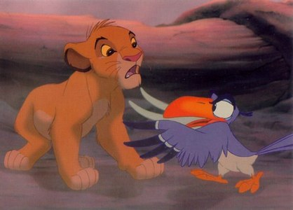 """Zazu:"""" Not yet I don't. And with an attitude like that, I'm afraid you're ___________ a pretty pathetic king indeed."""""""
