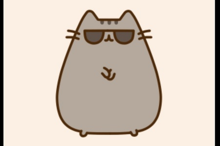 On her tail, how many stripes does pusheen have?