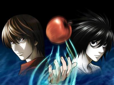 Is it happen in the series that Ryuzaki wipe the wet feet of Yagami Light and give him a foot massage?