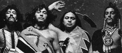 The vocal group, Rebone, consisted of real-life Native Americans
