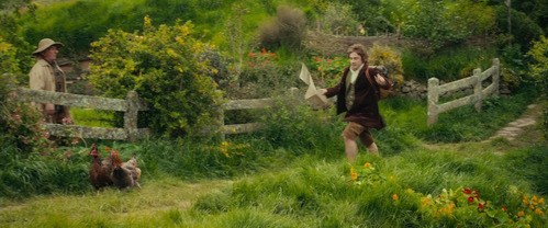 MOVIE: After Bilbo signed the contract, to whom did he gave it to?