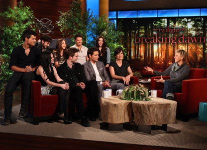 In a recent interview on Ellen's Show,where the whole Twilight Cast was presented how did Rob mention that the problem with the 'butt crack' (of the fake baby) was solved?
