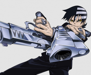 what`s death the kids weapons name in soul eater?