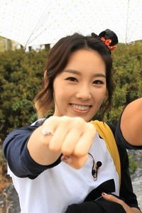 Who was Taeyeon's partner on episode 63 of Running Man?
