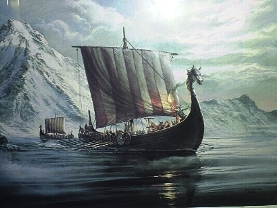 What is the name of the Viking vessel as seen in the 'Vikings'?